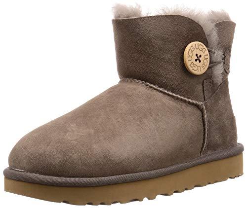 UGG Womens Mini Bailey Button II Boot, Mole, Size 7 (Button Ugg Boot Bailey)