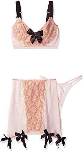 Leg Avenue Women's 3 Piece Blush Set Mes - Leg Avenue Nylon Garter Shopping Results
