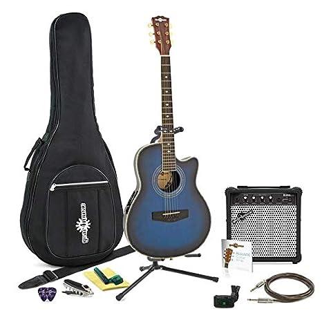 Guitarra Electroacustica Roundback + Paquete Completo Blue Burst ...