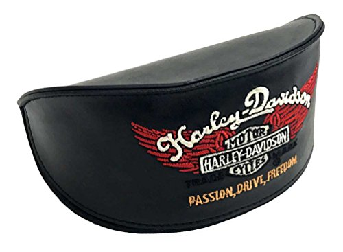 Harley-Davidson Sunglasses Case Embroidered Bar & Shield w/ H-D Microfiber Cloth