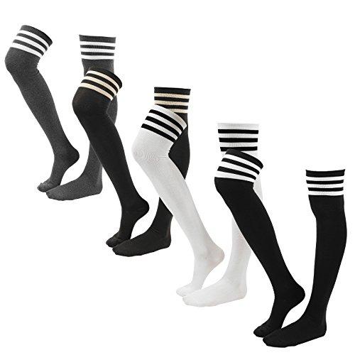 WOWFOOT Women Cotton Over Stockings