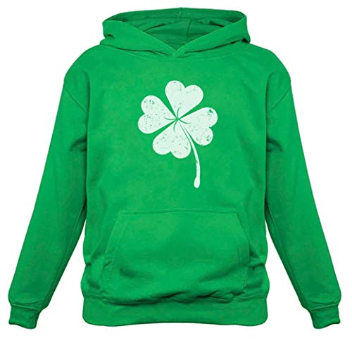 Tstars Faded Shamrock Hoodie for St. Patrick's Day Irish Women's Hoodie Medium Green