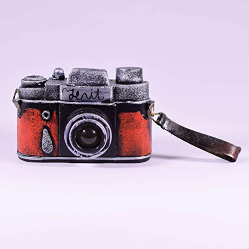 Price comparison product image EliteTreasures Retro Red Metal Collectible Camera Model - Photographer Gift - Vintage Style Camera - Gift for Camera Collector - Industrial Decor