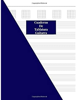 MUSIC PAPER NoteBook - Guitar Chord & Tablature: Amazon.es ...