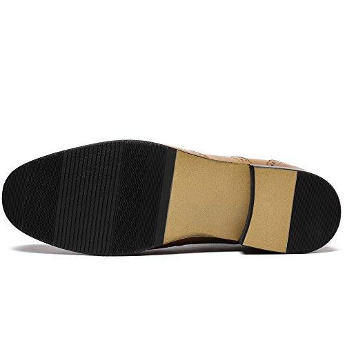 CHAMARIPA Chaussures de travail a Tolonnette invisible de couleur maron 7 cm Plus grand