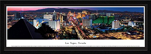 Horizontal Picture Nhl Frame (Las Vegas, Nevada - Blakeway Panoramas Skyline Posters with Select Frame)