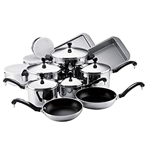 Farberware-71238-Classic-Stainless-Steel-Cookware-Pots-and-Pans-Set-17-Piece