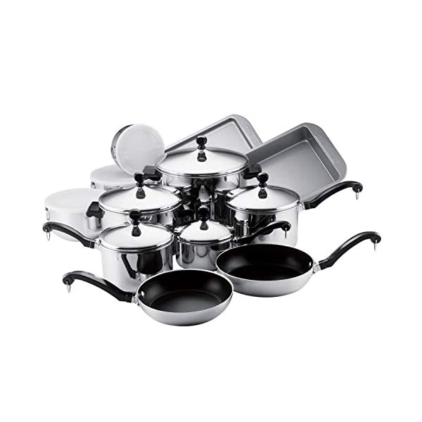 Farberware Classic Stainless Steel Cookware Pots and Pans Set, 17-Piece 1