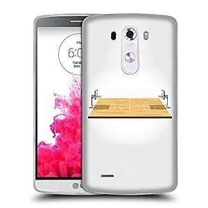 Super Galaxy Coque de Protection TPU Silicone Case pour // V00000610 El campo de baloncesto // LG G3 VS985
