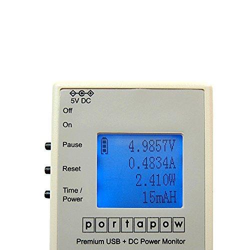 PortaPow Premium USB + DC Power Monitor / Multimeter / DC Ammeter Version 2