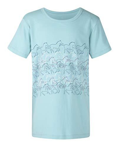(Kerrits Kids Equi-Sketch Tee Shortsleeve Aquamarine Size: L)