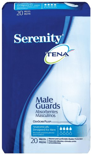 TENA Serenity Male Guards, Moderate, 20 Count