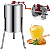 BestEquip Manual Honey Extractor 3 Frame Bee Extractor Stainless Steel Honey Spinner with Stand Beekeeping Equipment