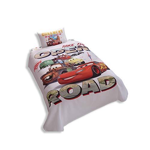 Disney Comforter Cotton - Disney Cars Single/Twin 100% Cotton Bedding Bedspread/Coverlet Set 3 Pcs