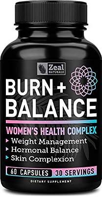 Weight Loss Pills for Women + Daily Balance Vitamins (Iron, Vitamin D, Setria, Folate,+) Premium Diet Pills for Women + Womens Multivitamin with Iron, D & B Vitamins & Hormone Balance for Women