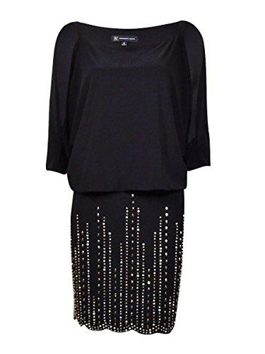 Embellished Blouson (INC Cold Shoulder Embellished Blouson Dress, Black (10))