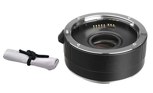 Canon EF 28-135mm f/3.5-5.6 IS Image Stabilizer USM 2x Teleconverter (4 Elements) + Nwv Direct Microfiber Cleaning Cloth.