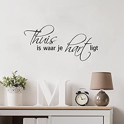 Exceptionnel Wall Sticker Quotes Dutch Home Decor Family Quote Living Room Nederlands  Decoration Home Decor