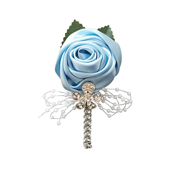 YOYOYU-ART-HOME-DECOR-2-PcsPack-Wedding-Corsages-Boutonniere-Groom-Diamond-Crystal-Wedding-Flowers-Pearl-Beaded-Brooch-Flowers