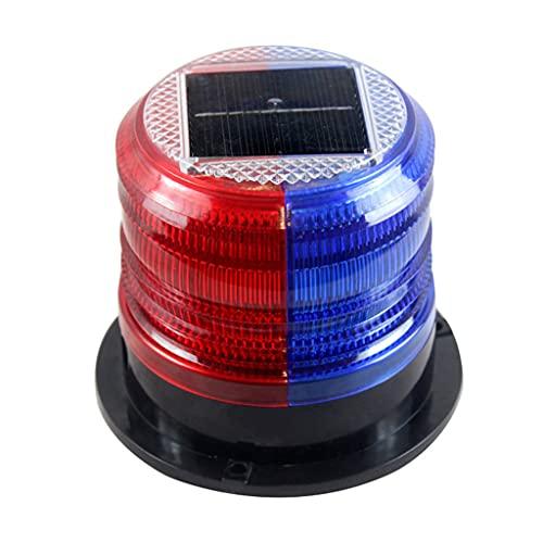WAHSBAG Waarschuwingslamp,Zonne-knipperende waarschuwingslampje Strobe noodkoplamp LED Strobe waarschuwingslampje