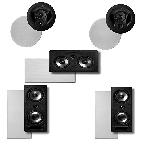 - Polk Audio Vanishing RT Series 5.0 High Performance In-Wall / In-Ceiling Home Theater Speaker System (2-90RT, 2-265RT & 1-255CRT)