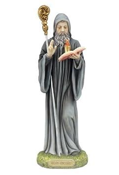 9 San Benito Abad Santo Statue Figurine Religious Benedict St Saint Catholic