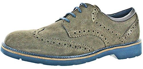 Suede Brogue Shoe - Geox Garret Men's Brogue Wingtip Oxford Dress Shoes Brown Size 9