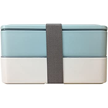 Bento Boxes/Lunch Box,MACDIAZ Microwave Bento Lunch Boxes For Kids Adults,Japanese Bento,BPA Free,Cultery,Reusable,Portion Control,Lunch Container,Blue