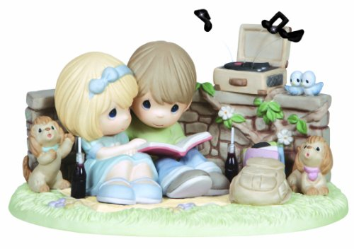 Precious Moments Figurine, Limited Edition Couple Listening to Record (Moment Limited Edition)