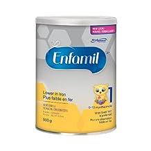 Enfamil Baby Formula, Lower Iron Powder, 900g