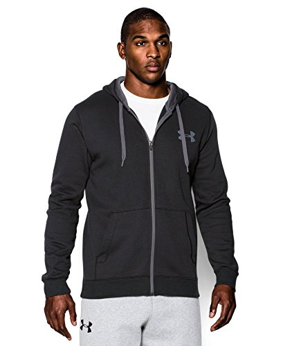 Under Armour Men's Rival Fleece Zip Hoodie, Black (001), Small