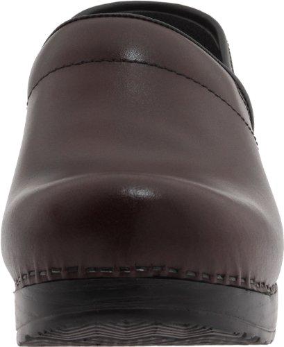 Zuecos Professional Leather Dansko de Black mujer Cabrio Piel para Fvq5R