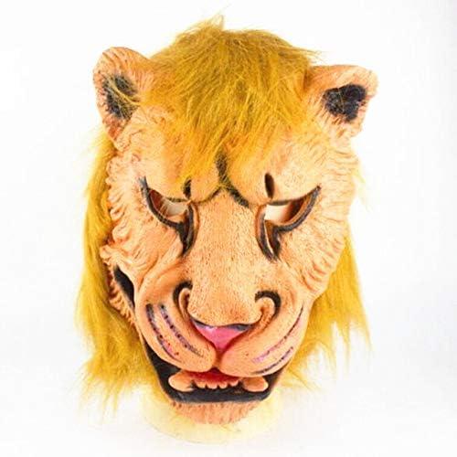 WSJDE León Tigre Guantes de Lobo Cabeza de Lobo Máscara de látex ...
