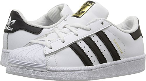 sale retailer 78562 ad686 adidas Kids  Superstar Foundation EL C Sneaker, White Black White, 1.5