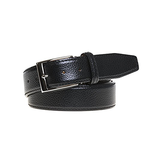 Black Italian Pebble Belt by Roger Ximenez: Bespoke Maker of Fine Leather Goods