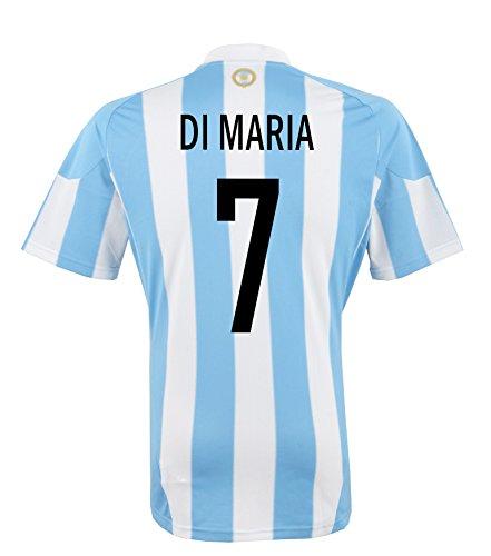 adidas di Maria # 7Argentina Home–Camiseta de fútbol,  white, blue sky