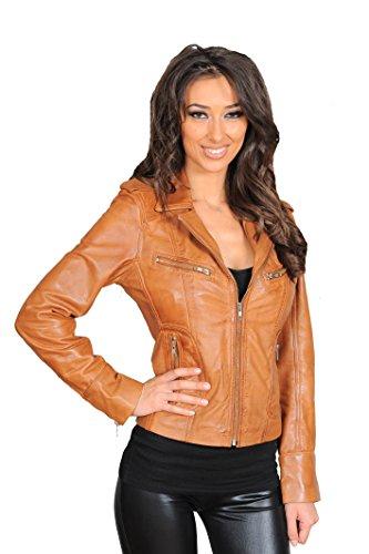 Ladies Leather Biker Style Jackets - 2