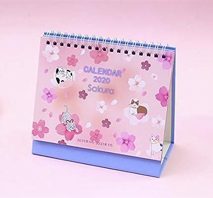 2020 Calendario de escritorio de flor de cerezo bonito Sakura y ...