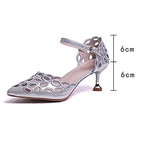 Baja Ocio Pequeño Sandalias Retro Ynxz Lovely Shoe De MujerBoca SzqUMVp