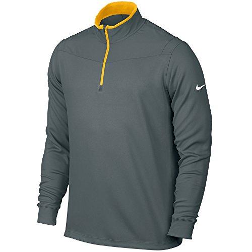 Nike Dri-FIT 1/2 Zip Long Sleeve Golf Jacket 2016 Cool Grey/Varsity Maize Small
