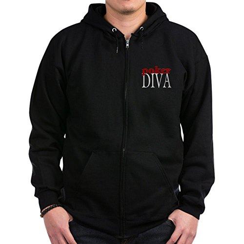 CafePress - Poker Diva - Zip Hoodie, Classic Hooded Sweatshirt with Metal Zipper