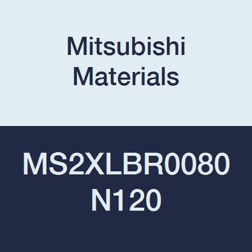 Mitsubishi Materials MS2XLBR0080N120 MS2XLB Series Carbide Mstar Ball Nose End Mill 12 mm Neck Length 2 Flutes Long Neck 1.6 mm Cutting Dia 0.8 mm Corner Radius Short Flute