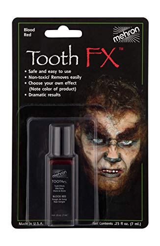 Mehron Makeup Tooth Fx With Brush for Special Effects, Halloween, Movies, 1.2 Ounce
