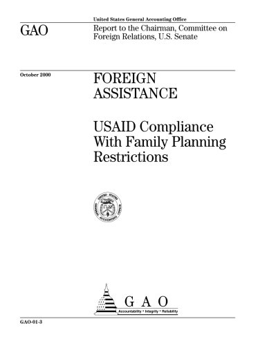 Foreign Assistance: USAID Compliance With Family Planning Restrictions