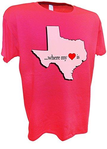 - WOMENS Texas State Home Heart Dallas Houston Tee By Achtung T Shirt LLC