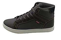 Levis Mens Carson Casual Sneakers (Charcoal/Black) (9)