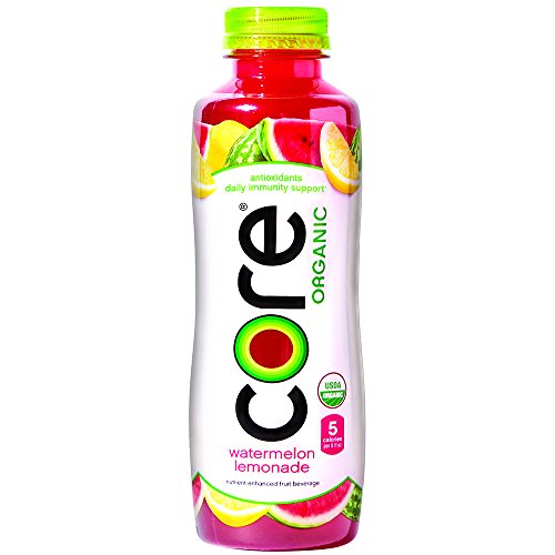 (CORE Organic, Watermelon Lemonade, 18 Fl Oz (Pack of 12), Fruit Infused Beverage, Vegan/Gluten-Free, Non-GMO, Refreshing Flavored Water with Antioxidants, Great For Immunity Support)