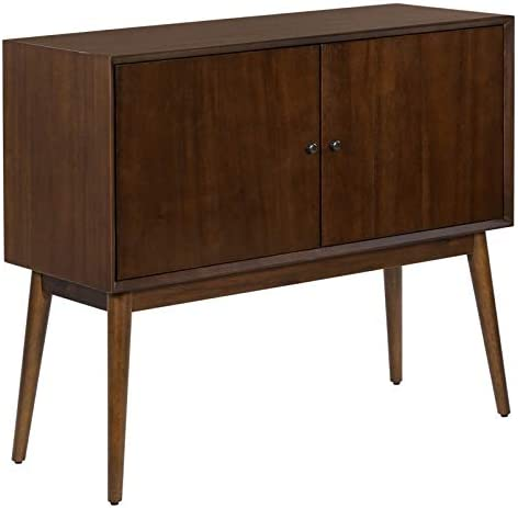 Serta Brookline 2 Door Storage Cabinet in Classic Walnut
