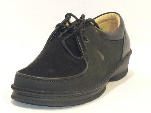 pour 6 femme Noir à UK Noir de Schein lacets ville Chaussures UzqBznTX