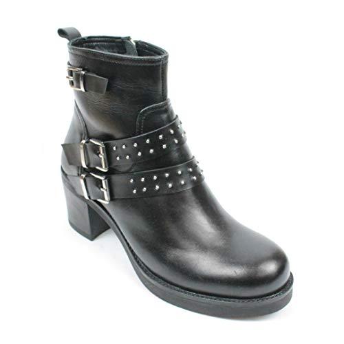 Chaussures 1 De Ville Lacets Pour Noir p À Milano 06 Ptr0011 Femme TAqHcI